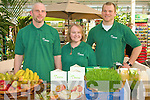 FOOD FAIR: The owner and staff of Manna Organic Store, Tralee letting the public taste their produce at the Tasting day held at Ballyseedy Garden Centre on Sunday l-r: Thomas and Claire O'Connor and Ryan Coote..