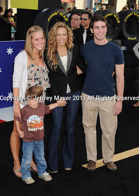 """HOLLYWOOD, CA -JUNE 18: Sheryl Crow attends the """"Cars 2"""" Los Angeles Premiere at the El Capitan Theatre on June 18, 2011 in Hollywood, California."""