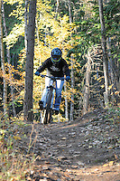 "Jill Anderson on ""The Monster"". Downhill mountain biking in Kaslo, BC"