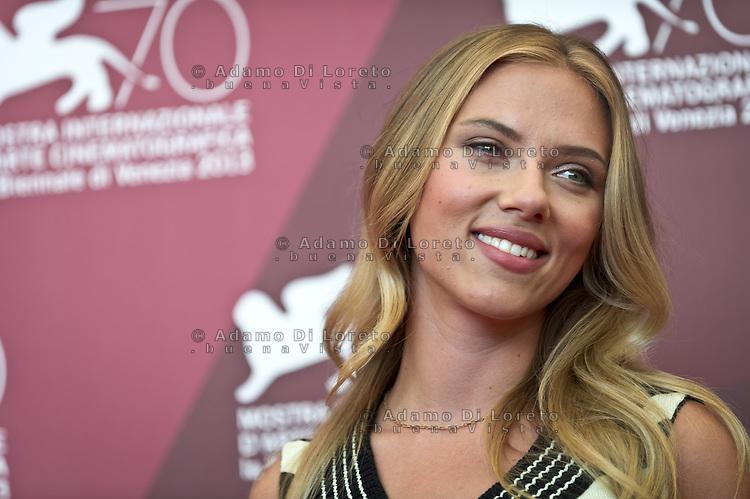 Scarlett Johansson attends 'Under The Skin' Photocall during the 70th Venice International Film Festival at Palazzo del Casino on September 3, 2013. (Photo by Adamo Di Loreto/BuenaVista*photo)