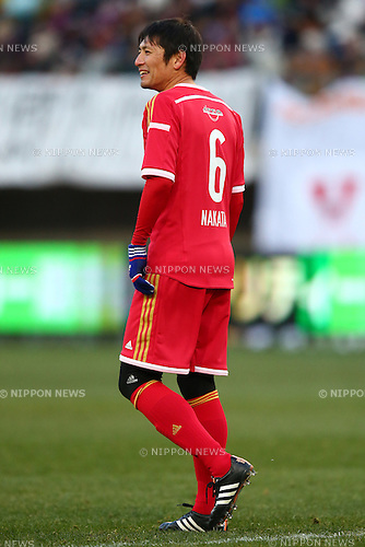 Koji Nakata (TOHOKU Dreams),<br /> DECEMBER 14, 2014 - Football / Soccer : <br /> JPFA CHARITY SOCCER 2014 <br /> match between TOHOKU Dreams 12-8 JAPAN Stars <br /> at Yurtec Stadium Sendai in Miyagi, Japan.<br /> (Photo by Shingo Ito/AFLO SPORT) [1195]
