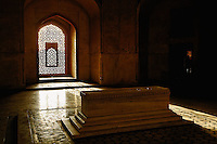 Tombs inside Humayun's Tomb, a complex of Mughal architecture built as Mughal Emperor Humayun's tomb, Nizamuddin, India, east of New Delhi. Listed as a UNESCO World Heritage Site.
