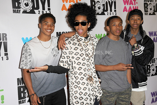 WWW.ACEPIXS.COM . . . . . .May 1, 2013...New York City....Princeton, Ray Ray, Prodigy and Roc Royal of Mindless Behavior attend Move Your Body 2013 at Avenues World School on May 1, 2013 in New York City ....Please byline: KRISTIN CALLAHAN - ACEPIXS.COM.. . . . . . ..Ace Pictures, Inc: ..tel: (212) 243 8787 or (646) 769 0430..e-mail: info@acepixs.com..web: http://www.acepixs.com .