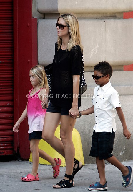 WWW.ACEPIXS.COM . . . . .  ....July 15 2011, New York City....TV personality Heidi Klum out with Henry and Leni in Soho on July 15 2011 in New York City....Please byline: CURTIS MEANS - ACE PICTURES.... *** ***..Ace Pictures, Inc:  ..Philip Vaughan (212) 243-8787 or (646) 679 0430..e-mail: info@acepixs.com..web: http://www.acepixs.com