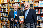 Billy Nolan with John Cleary at his book signing at O'Mahonys Bookshop in Tralee on Saturday.