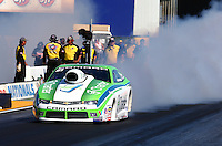 Jul. 25, 2014; Sonoma, CA, USA; NHRA pro stock driver Dave Connolly during qualifying for the Sonoma Nationals at Sonoma Raceway. Mandatory Credit: Mark J. Rebilas-