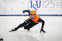 SHORT TRACK: TORINO: 14-01-2017, Palavela, ISU European Short Track Speed Skating Championships, Semifinals 500m Men, Sjinkie Knegt (NED), ©photo Martin de Jong
