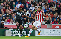 Luis Antonio Valencia of Man Utd & Erik Pieters of Stoke City during the Premier League match between Stoke City and Manchester United at the Britannia Stadium, Stoke-on-Trent, England on 9 September 2017. Photo by Andy Rowland.