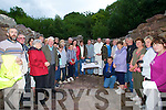 MASS: Camp parishioners attending the special Mass held in the historic ruins of Killelton Church, on the Dingle Way, which was celebrated by Fr John Buckley PP Camp on Tuesday evening.
