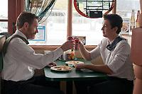 Roger Davis (Bryan Cranston) and Will Davis (Miles Teller) in Mexican restaurant