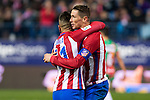 "Atletico de Madrid's Angel Correa, Fernando Torres  during the match of ""Copa del Rey"" between Atletico de Madrid and Gijuelo CF at Vicente Calderon Stadium in Madrid, Spain. december 20, 2016. (ALTERPHOTOS/Rodrigo Jimenez)"