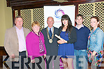 Kerry Volunteer Centre Awards Presentation : Members of the Donal & Darren Foundation who were presented with their certificate at a civic reception held at the Listowel Arms Hotel on Friday evening last. L-R : Jim & Breda Burke, Mayor of Listowel, Cllr Tony Curtin, Selena Mulvihill, Brian Mulvihill Jr. & Louise Sugrue.