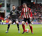 John Fleck of Sheffield Utd and Kenny McLean of Norwich City during the Premier League match at Bramall Lane, Sheffield. Picture date: 7th March 2020. Picture credit should read: Simon Bellis/Sportimage