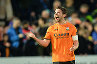 Callum Reynolds At the Final Whistle Applause Fan's during Barnet vs Stockport County, Emirates FA Cup Football at the Hive Stadium on 2nd December 2018