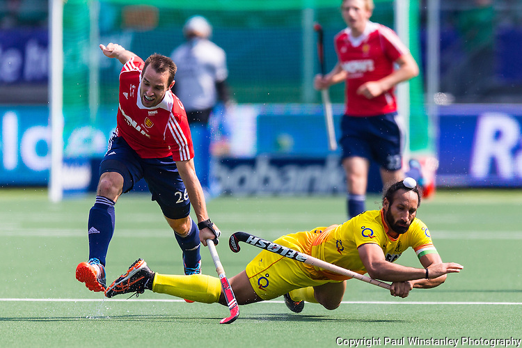 England Men vs India Men in the Rabobank Hockey World Cup 2014
