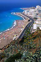 Beautiful beach of Rhodes Greece New Town