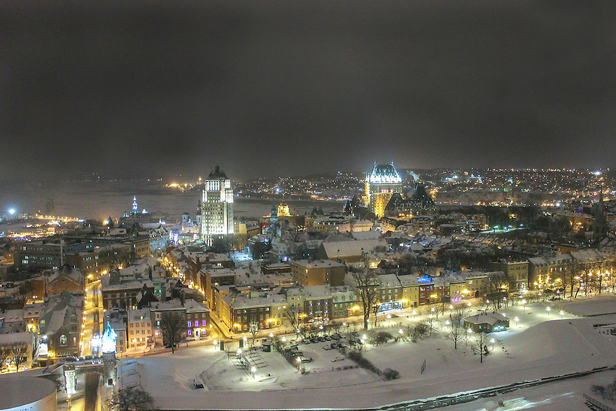 Winter Land in Quebec City, Canada.