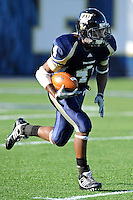 27 November 2010:  FIU wide receiver T.Y. Hilton (4) returns a kickoff in the first quarter as the FIU Golden Panthers defeated the Arkansas State Red Wolves, 31-24, at FIU Stadium in Miami, Florida.
