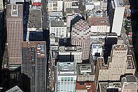 aerial photograph 333 Bush Street, 101 Montgomery Street and adjacent skyscrapers San Francisco
