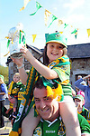 27-9-2014: Dermot and Sarah Dineen welcome home their heroes at the Kerry Team homecoming in Rathmore, County Kerry last evening.<br /> Picture by Don MacMonagle