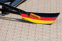 """Lucerne, SWITZERLAND, 15th July 2018, Sunday, German, Oar, Blade, """"Hatchet Style"""", and """"Rubber Grip Handle"""", FISA World Cup III, Lake Rotsee, © Peter SPURRIER,"""