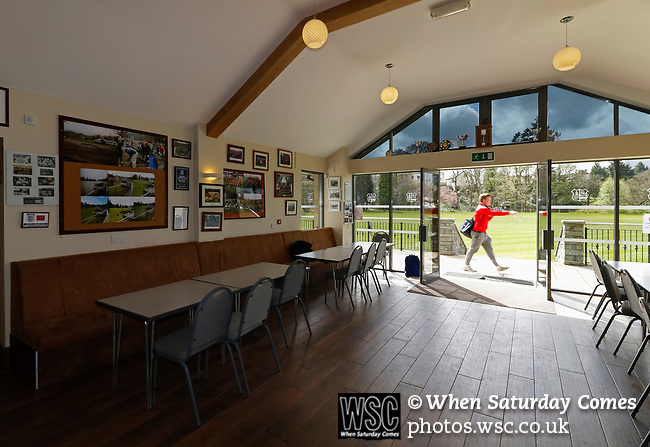 Keswick 1 Kendal 1, 15/04/2017. Fitz Park, Westmoreland League. The interior of the clubhouse with team pictures on the wall. Photo by Paul Thompson.