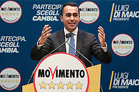 Luigi Di Maio<br /> Roma 29/01/2018. Presentazione dei candidati nelle liste uninominali del Movimento 5 Stelle.<br /> Rome January 29th 2018. Presentation of the candidates for Movement 5 Stars.<br /> Foto Samantha Zucchi Insidefoto