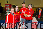 Daragh Boyd, Tanya Horan, Tristan Raymond, Paul Horan. enjoying the Kerry Liverpool Supporters Club, an Evening with LFC Legend John Barnes at the Brandon Hotel on Friday