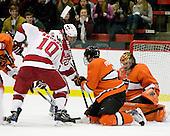 Eric Kroshus (Harvard - 10), Louis Leblanc (Harvard - 20), Jody Pederson (Princeton - 3), Zane Kalemba (Princeton - 32) - The Princeton University Tigers defeated the Harvard University Crimson 2-1 on Friday, January 29, 2010, at Bright Hockey Center in Cambridge, Massachusetts.