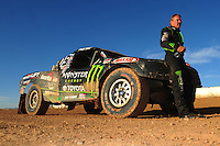 Apr 16, 2011; Surprise, AZ USA; LOORRS driver Marty Hart (15) during round 3 at Speedworld Off Road Park. Mandatory Credit: Mark J. Rebilas-