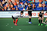 The Hague, Netherlands, June 01: Namyong Lee #6 of Korea passes the ball during the field hockey group match (Men - Group B) between the Black Sticks of New Zealand and Korea on June 1, 2014 during the World Cup 2014 at GreenFields Stadium in The Hague, Netherlands. Final score 2:1 (1:0) (Photo by Dirk Markgraf / www.265-images.com) *** Local caption ***