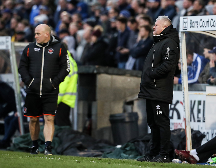 Blackpool's manager Terry McPhillips looks on  <br /> <br /> Photographer Andrew Kearns/CameraSport<br /> <br /> The EFL Sky Bet League Two - Bristol Rovers v Blackpool - Saturday 2nd March 2019 - Memorial Stadium - Bristol<br /> <br /> World Copyright © 2019 CameraSport. All rights reserved. 43 Linden Ave. Countesthorpe. Leicester. England. LE8 5PG - Tel: +44 (0) 116 277 4147 - admin@camerasport.com - www.camerasport.com