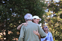 Juli Inkster with Clint Eastwood team leader at the 3M Celebrity Challenge during Wednesday's Pracitce Day of the 2018 AT&amp;T Pebble Beach Pro-Am, held over 3 courses Pebble Beach, Spyglass Hill and Monterey, California, USA. 7th February 2018.<br /> Picture: Eoin Clarke | Golffile<br /> <br /> <br /> All photos usage must carry mandatory copyright credit (&copy; Golffile | Eoin Clarke)