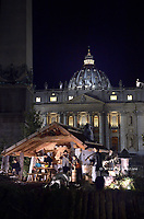 Nativity scene in St Peter's square at the Vatican  on 14 december 2019