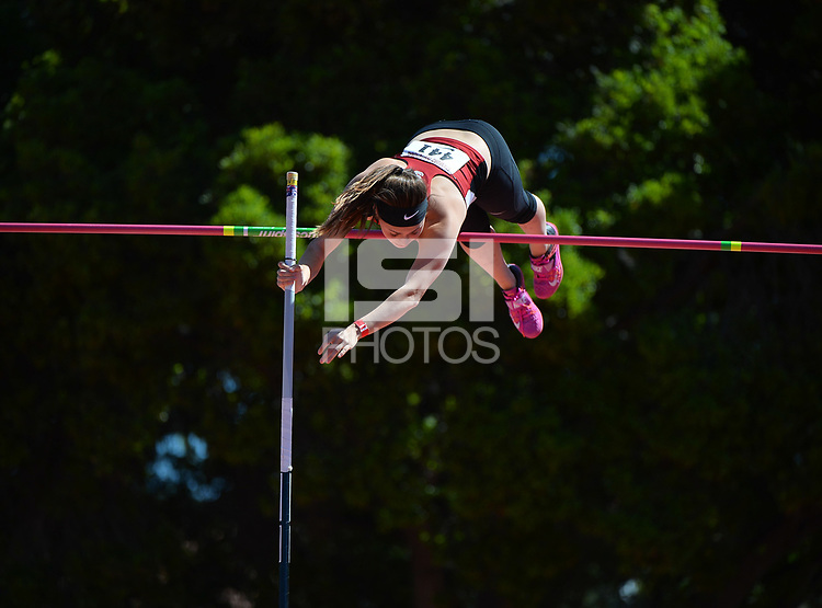 Stanford, Ca - Friday March 31, 2017: Nicole Summersett at the Stanford Invitational at Cobb Field.