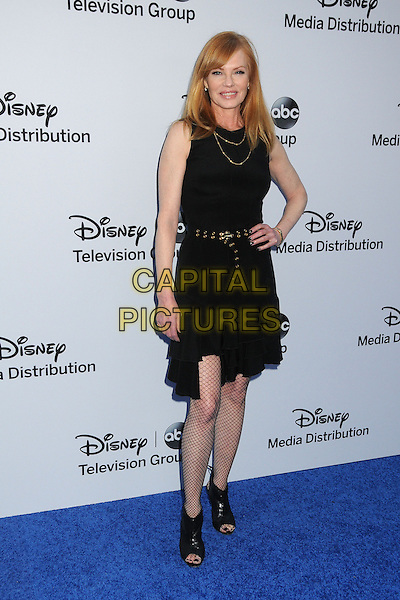 Marg Helgenberger .Disney Media Networks International Upfronts 2013 held at Walt Disney Studios, Burbank, California, USA..May 19th, 2013.full length dress ankle boots fishnet black stockings sequins sequined hand on hip.CAP/ADM/BP.©Byron Purvis/AdMedia/Capital Pictures