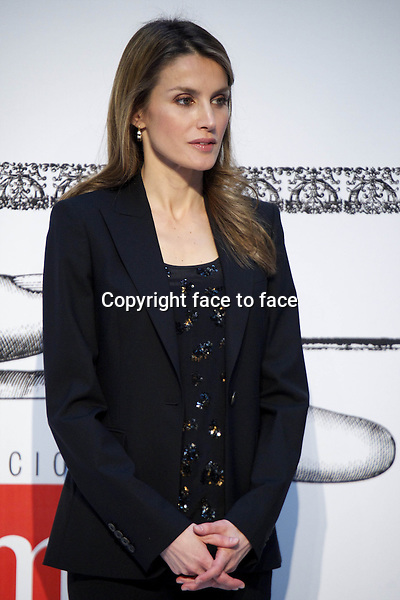 09-04-2013 Madrid Spanish Princess Letizia at the Gran Angular and Barco Vapor SM Awards (an publish House of books for youngs) held at the Royal Post House in Madrid.....Credit: PPE/face to face..- No Rights for Netherlands -