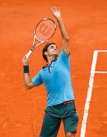 28-5-09, France, Paris, Tennis, Roland Garros, Federer