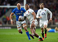 Manu Tuilagi of England in possession. Guinness Six Nations match between England and Italy on March 9, 2019 at Twickenham Stadium in London, England. Photo by: Patrick Khachfe / Onside Images