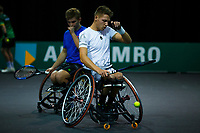 Rotterdam, The Netherlands, 11 Februari 2020, ABNAMRO World Tennis Tournament, Ahoy, <br /> Wheelchair tennis: Ruben Spaargaren (NED) / Jef Vandorpe. (BEL) <br /> Photo: www.tennisimages.com