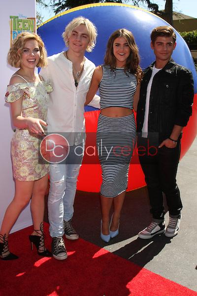 "Grace Phipps, Ross Lynch, Maia Mitchell, Garrett Clayton<br /> at the ""Teen Beach 2"" Premiere, Walt Disney Studios, Burbank, CA 06-22-15<br /> David Edwards/DailyCeleb.com 818-249-4998"