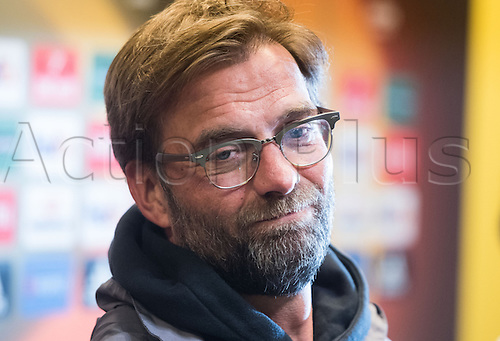 06.04.2016. Dortmund, Germany.  Liverpool's head coach Juergen Klopp attends a press conference at Signal Iduna Park in Dortmund, Germany. Liverpool will face Borussia Dortmund in an UEFA Europa League quarter final first leg soccer match on April 7th.