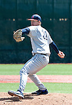 April 28, 2012:   Fresno State Bulldogs starting pitcher Justin Haley on the mound against the Nevada Wolf Pack during their NCAA baseball game played at Peccole Park on Saturday afternoon in Reno, Nevada.