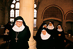 ST MARY AT THE CROSS, MOTHER ABBESS ROSEMARY AND OTHER SISTERS, EDGWARE NORTH LONDON UK  1989.