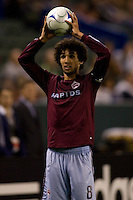 Colorado Rapids midfielder Mehdi Ballouchy (8) throws in a ball late in the second half. The Colorado Rapids defeated the LA Galaxy 1-0 during the preliminary rounds of the 2008 US Open Cup at Home Depot Center stadium in Carson, Calif., on Tuesday, May 27, 2008.