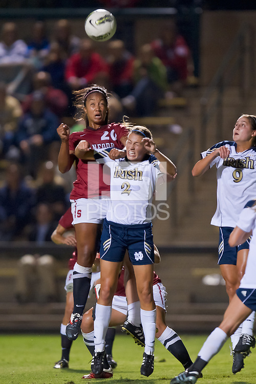 STANFORD, CA - September 9, 2011: Stanford defeats Notre Dame 2-1 in a women's soccer match in Stanford, California.