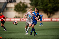 Seattle, WA - Sunday August 13, 2017: Mccall Zerboni during a regular season National Women's Soccer League (NWSL) match between the Seattle Reign FC and the North Carolina Courage at Memorial Stadium.