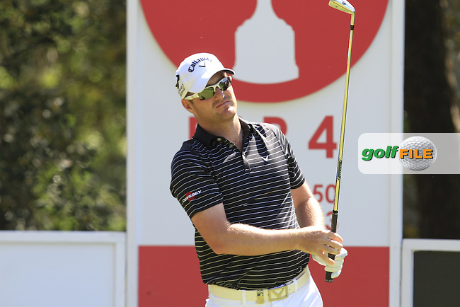 Marc Warren (SCO) on the 2nd during Thursday's Round 1 of The Open De Espana at The PGA Catalunya Resort. 15th May 2014.<br /> Picture:  Thos Caffrey / www.golffile.ie