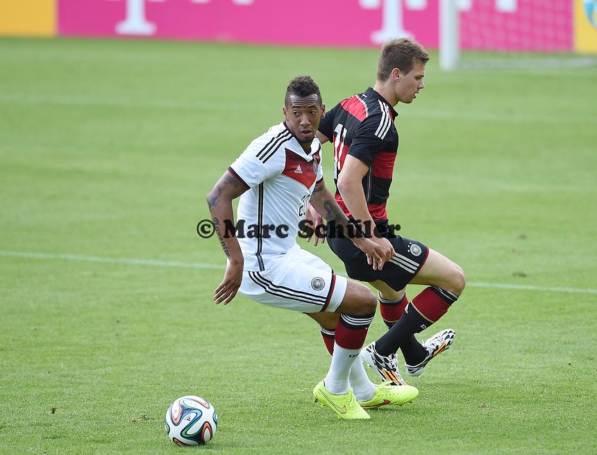 Zweikampf / Duell  Jerome BOATENG (Deutschland) - Thomas PLEDL (DFB U20).<br />  - Testspiel der Deutschen Nationalmannschaft gegen die U20 im Rahmen der WM-Vorbereitung in St. Martin