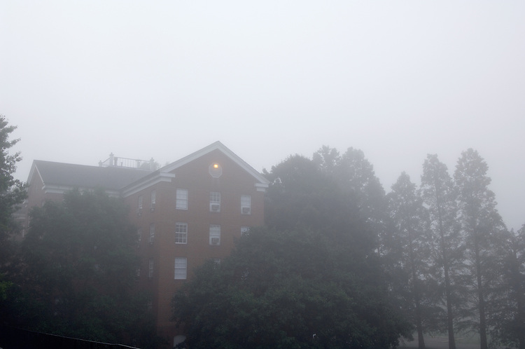 17111Campus : Fog Students: South green 9/21/05